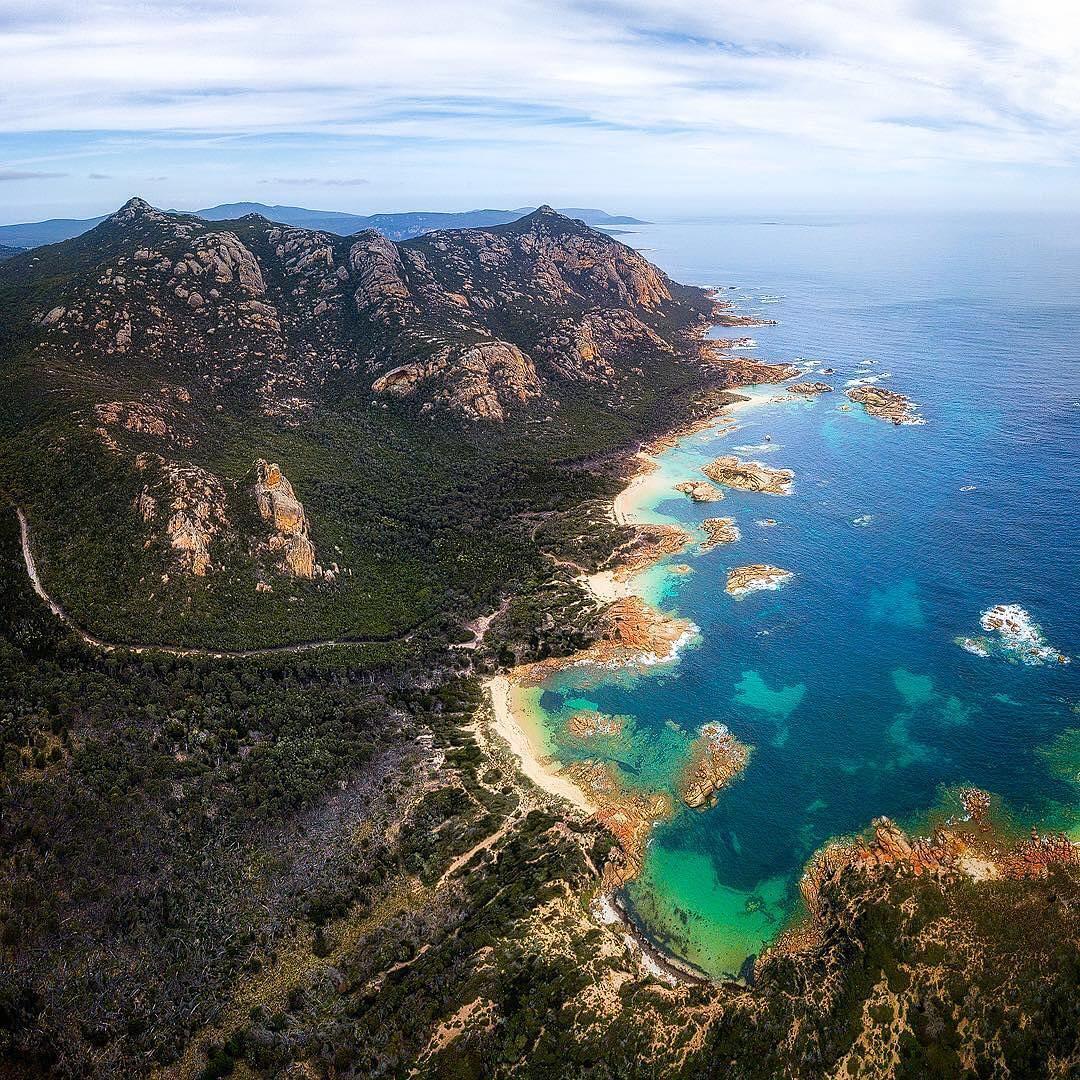 aerial view of flinders island